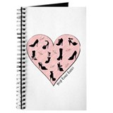 Pink Shoe Heart Journal