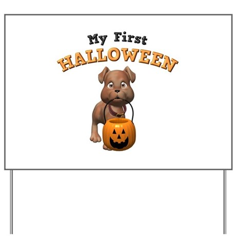 My First Halloween Yard Sign