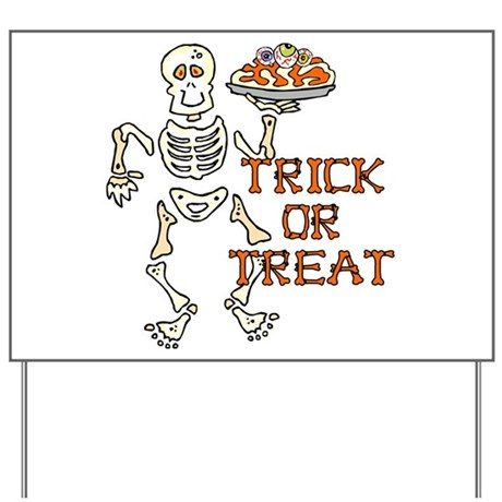 Trick or Treat Yard Sign