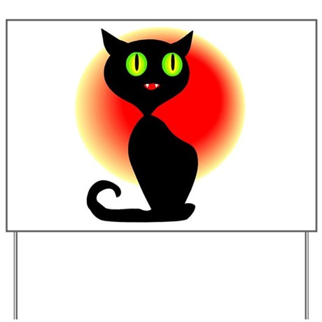 Black Cat Yard Sign