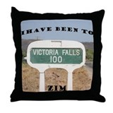 Victoria Falls Sign Post Throw Pillow