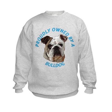 Proudly Owned Bulldog Kids Sweatshirt