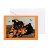 Pumpkin Ruff Daisy Greeting Card