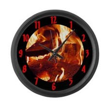 Flaming Large Wall Clock