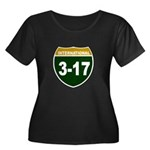 I-317 Women's Plus Size Scoop Neck Dark T-Shirt