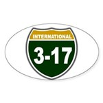 I-317 Oval Sticker (10 pk)