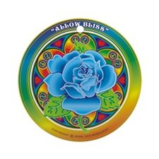 Blue Rose Bliss Ornament (Round)
