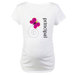 Cute Principal Maternity T-Shirt