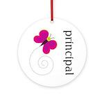Cute Principal Ornament (Round)