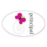 Cute Principal Oval Sticker