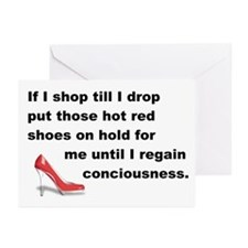 Shop Till I Drop Greeting Cards (Pk of 20)
