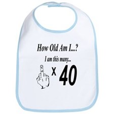 Unique 40 year old birthday party Bib