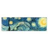 Vincent van Gogh's Starry Night Bumper Car Sticker
