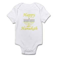 Happy Hanukah Menorah Infant Bodysuit