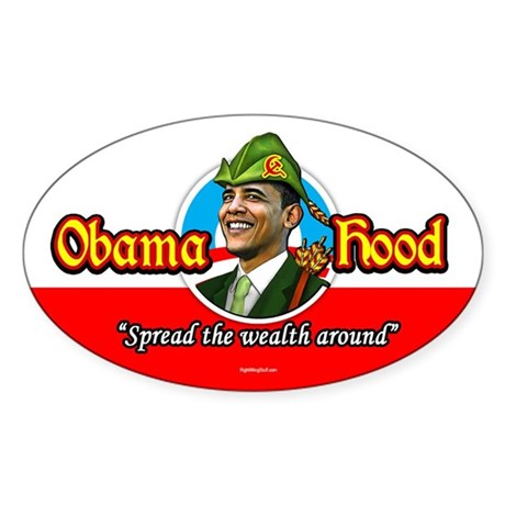 ObamaHood Spread the Wealth Oval Sticker (10 pk)