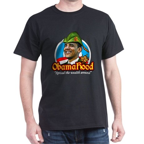 ObamaHood Spread the Wealth Dark T-Shirt