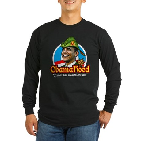 ObamaHood Spread the Wealth Long Sleeve Dark T-Shi