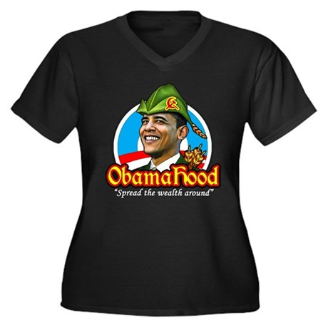 ObamaHood Spread the Wealth Women's Plus Size V-Ne