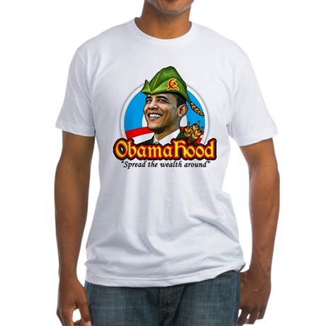 ObamaHood Spread the Wealth Fitted T-Shirt