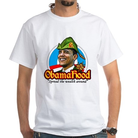 ObamaHood Spread the Wealth White T-Shirt