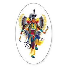Native Dancer Oval Decal