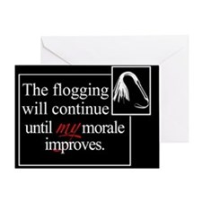 Flogging Morale Greeting Card