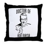 Doctor of kielbasa Throw Pillow