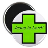 "Jesus is Lord! (Light Jade) 2.25"" Magnet (100 pack"