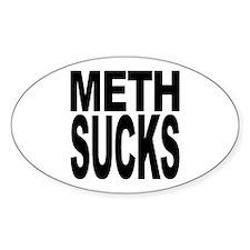 Meth Sucks Oval Sticker (50 pk)