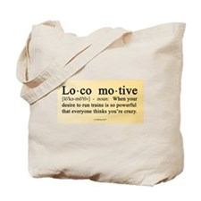 Locomotive Definition Tote Bag