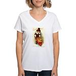 Little Pilgrim Women's V-Neck T-Shirt