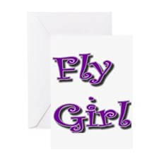 Fly Girl Greeting Card