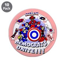 "Democrats Unite 3.5"" Button (10 pack)"