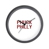 Phuck Philly 2 Wall Clock