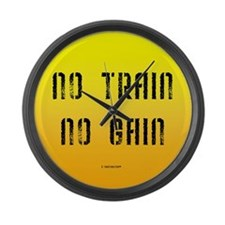 No Train No Gain Large Wall Clock