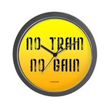 No Train No Gain Wall Clock