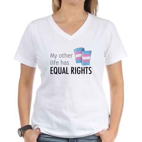 My Other Life Trans Women's V-Neck T-Shirt