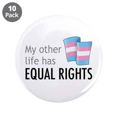 "My Other Life Trans 3.5"" Button (10 pack)"