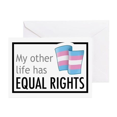 My Other Life Trans Greeting Cards (Pk of 10)
