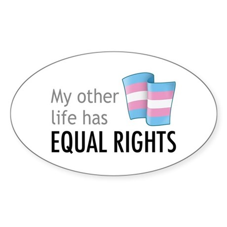 My Other Life Trans Oval Sticker