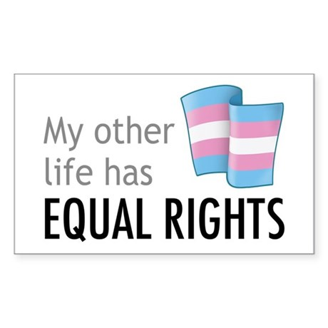 My Other Life Trans Rectangle Sticker 10 pk)