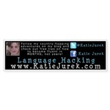 Katie Jurek Language Hacking Bumper Sticker Decal