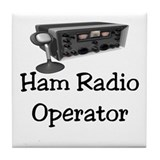 Ham Radio Operator Tile Coaster