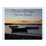 Dinghy Boats Collection Wall Calendar