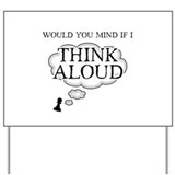 Chess Thinking Aloud Yard Sign