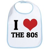I Love the 80s Bib