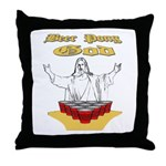 Beer Pong God Throw Pillow