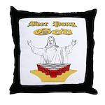 Beer Pong God Throw Pillow