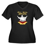 Beer Pong God Women's Plus Size V-Neck Dark T-Shir