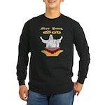 Beer Pong God Long Sleeve Dark T-Shirt